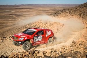 Top ten in greifbarer Nähe -  Tag 2 der Rally Oilibya Maroc 2013