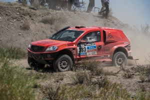 Kuznetsov / Elagin in the second stage of the Dakar 2014 Rally